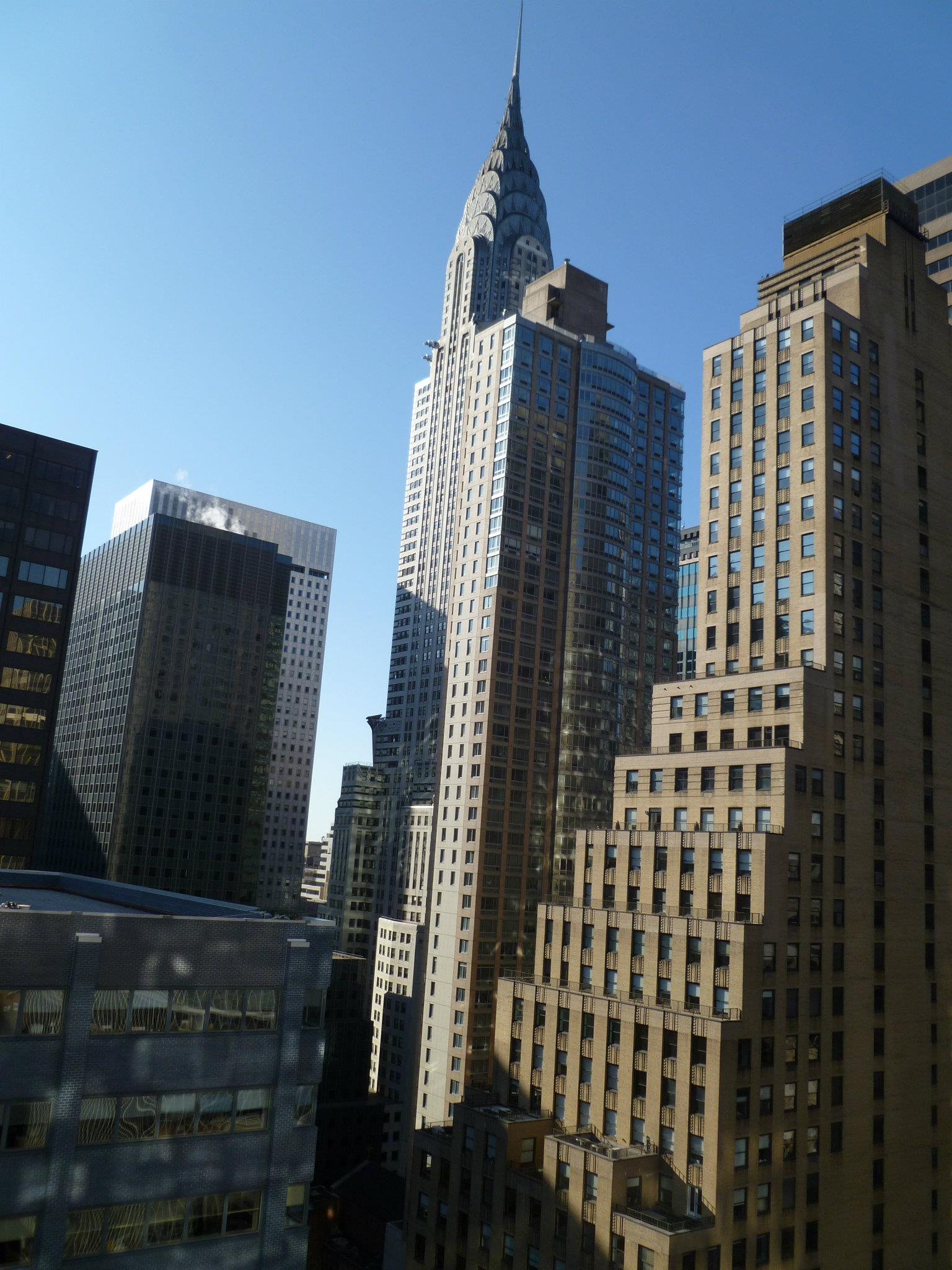 Chrysler Building view during the day from hotel room