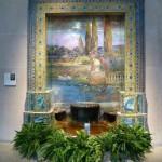 Pretty water fountain mosaic